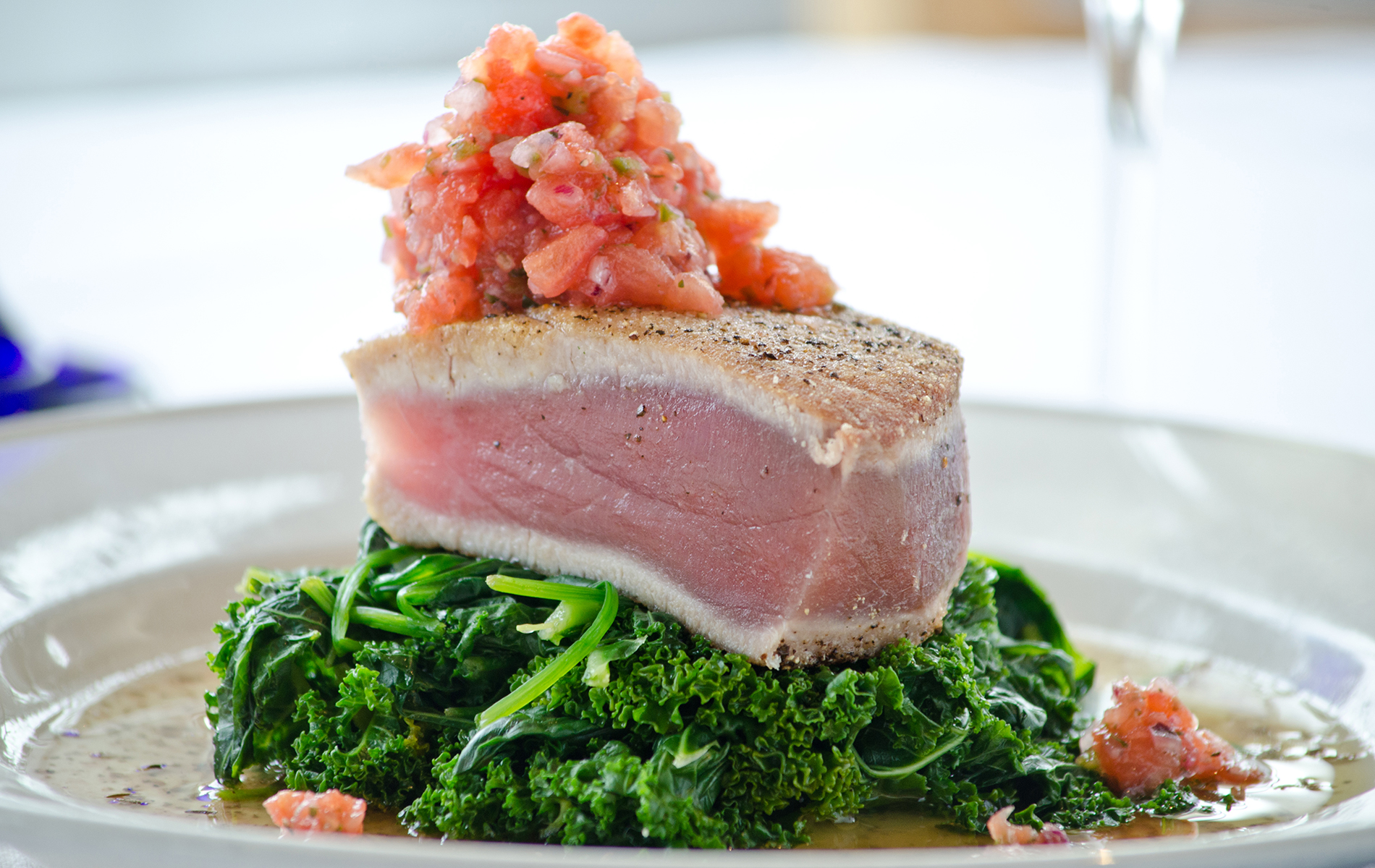 Go Fish Restaurant Seared Tuna